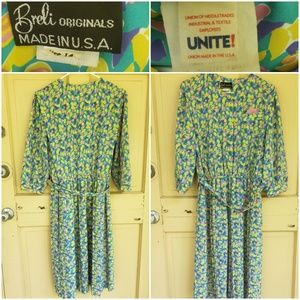 Vintage Breli Originals Pastel Dress